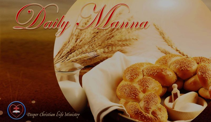 DCLM DAILY MANNA: A Glimpse Into Heavenly Order | Thursday Oct. 20, 2016