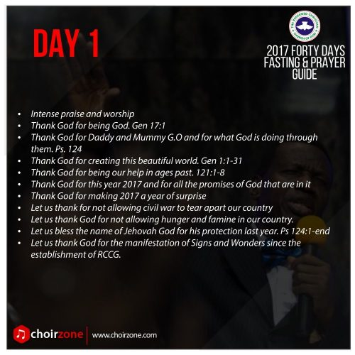 2017 FORTY DAYS FASTING & PRAYER GUIDE [DAY 1]