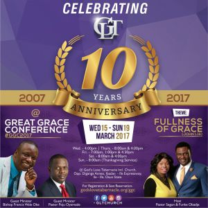 Poju Oyemade, Bishop Francis Wale Oke  Will Be Attending  GLT's 10th Year Anniversary